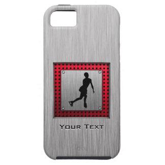 Figure Skating Red Metal-look iPhone 5/5S Case