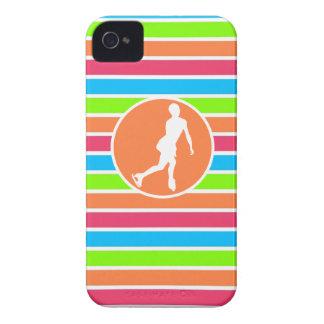 Figure Skating; Retro Neon Rainbow Case-Mate iPhone 4 Cases