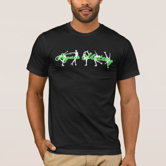 Figure Skating Shirt  - neon green figure skaters