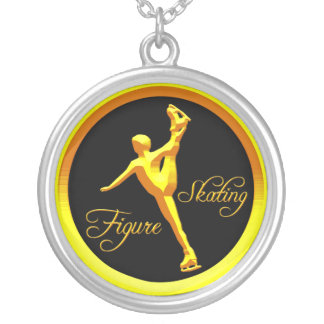 Figure Skating Silver Plated Necklace