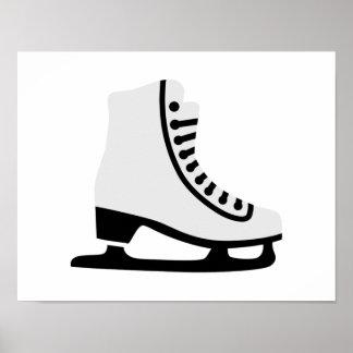 Figure skating skate poster