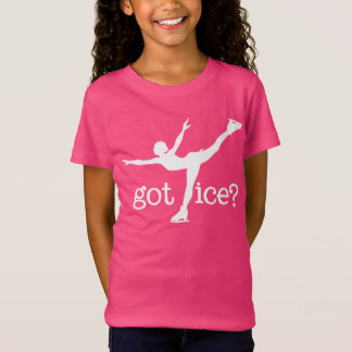 Figure Skating White Text with Skater - Got Ice T-Shirt