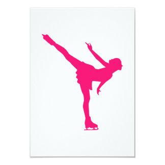 Figure skating woman invitations