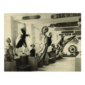 Figureheads,  Hallands Museum, Halmstad, Norway Postcard
