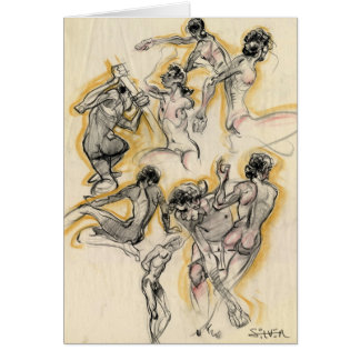 figures greeting card