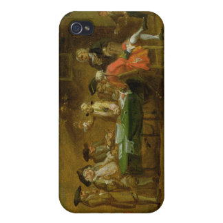 Figures in a Tavern or Coffee House, 1720s (oil on iPhone 4/4S Cases