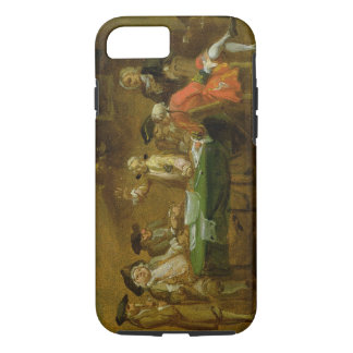 Figures in a Tavern or Coffee House, 1720s (oil on iPhone 8/7 Case