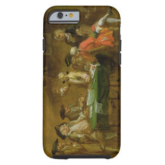 Figures in a Tavern or Coffee House, 1720s (oil on Tough iPhone 6 Case