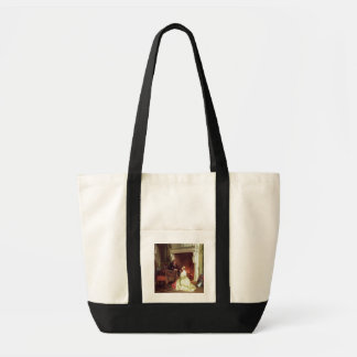 Figures in an Interior (oil on panel) Tote Bag