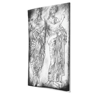 Figures of two apostles or prophets canvas print