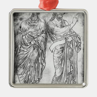 Figures of two apostles or prophets christmas ornament