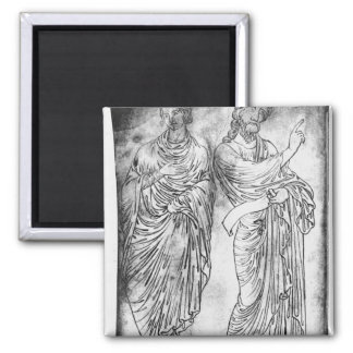 Figures of two apostles or prophets magnet