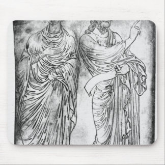 Figures of two apostles or prophets mouse mat
