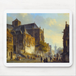 Figures on a Market Square in a Dutch Town Mouse Pad