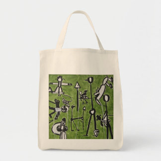 Figures on Green by Patrick John Tote Bag