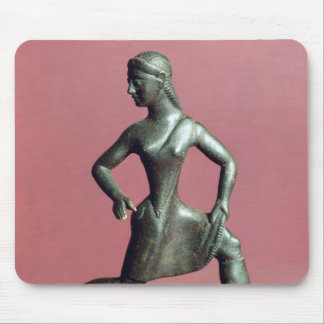 Figurine of a girl running, mouse mat
