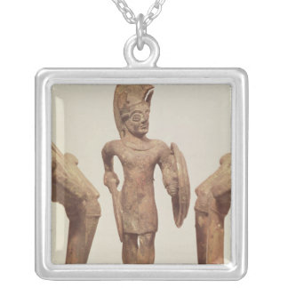 Figurine of a warrior, c.490 BC Silver Plated Necklace