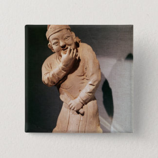 Figurine of an actor whistling 15 cm square badge