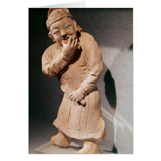 Figurine of an actor whistling cards