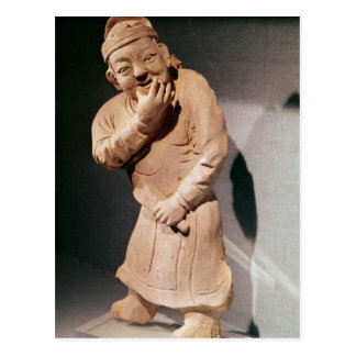 Figurine of an actor whistling postcard