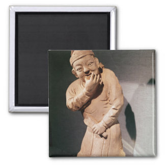 Figurine of an actor whistling square magnet
