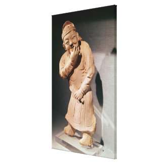 Figurine of an actor whistling stretched canvas print
