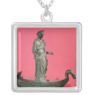 Figurine of the Goddess Sequana Silver Plated Necklace