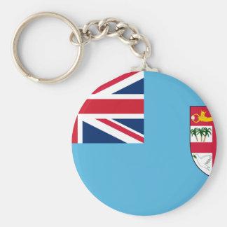 fiji basic round button key ring