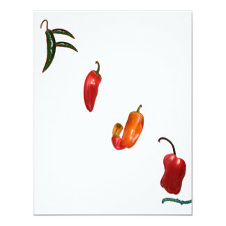 Fiji Chili Peppers 11 Cm X 14 Cm Invitation Card