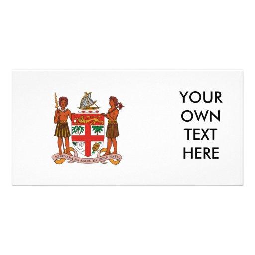 Fiji Coat of Arms Photo Card