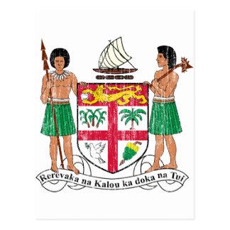 Fiji Coat Of Arms Postcard