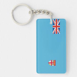 fiji country flag nation symbol long Single-Sided rectangular acrylic key ring