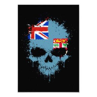 Fiji Dripping Splatter Skull 9 Cm X 13 Cm Invitation Card