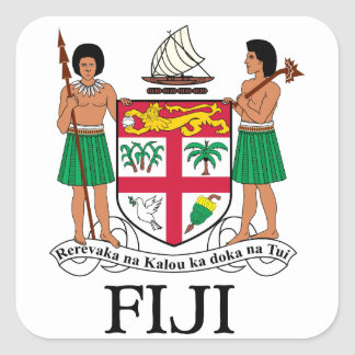 FIJI - emblem / flag / coat of arms / symbol Square Sticker