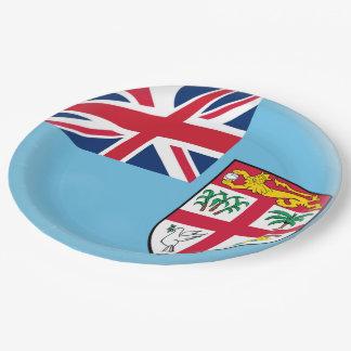 Fiji Fijian Flag Paper Plate