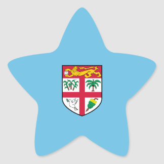 Fiji/Fijian Flag Star Stickers