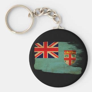 Fiji Flag Basic Round Button Key Ring