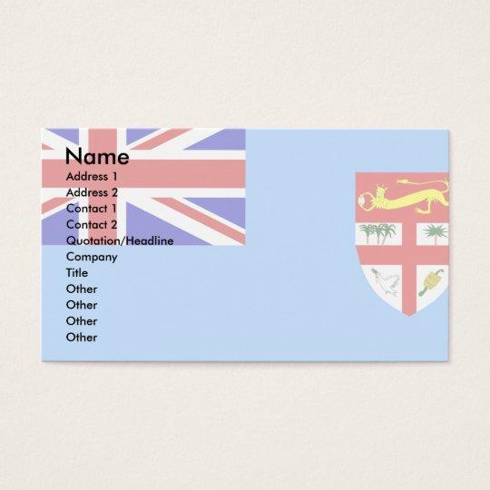 Fiji Flag Business Card