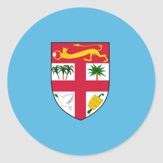 Fiji Flag FJ Classic Round Sticker