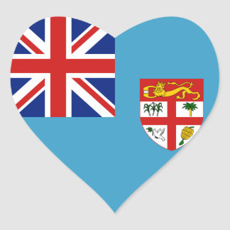 Fiji Flag Heart Sticker