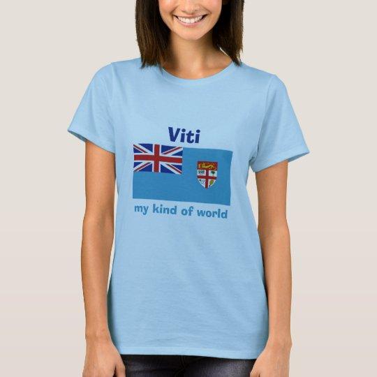 Fiji Flag + Map + Text T-Shirt