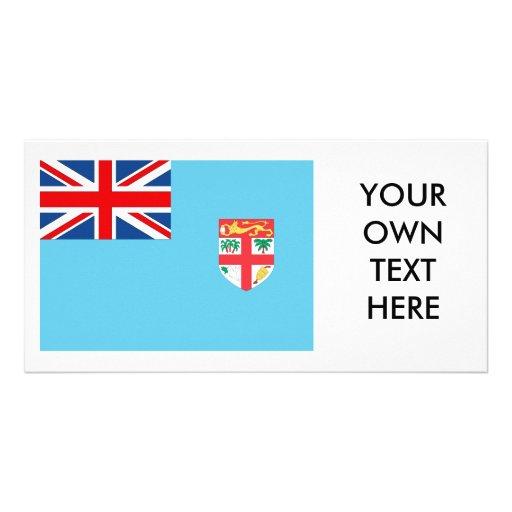 Fiji Flag Custom Photo Card