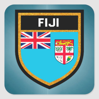 Fiji Flag Square Sticker