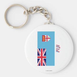 Fiji Flag with Name Key Ring