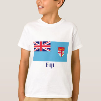Fiji Flag with Name T-Shirt