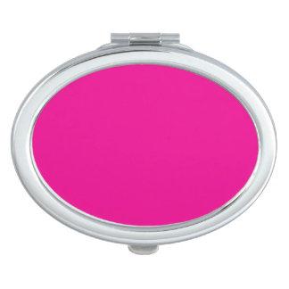Fiji Fuchsia-Purple-Pink Magenta Tropical Romance Compact Mirror
