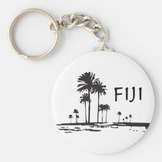 Fiji - Graphic Palm Trees Key Ring
