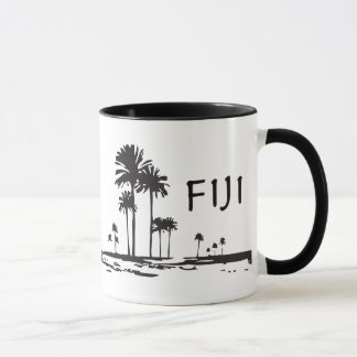 Fiji - Graphic Palm Trees Mug