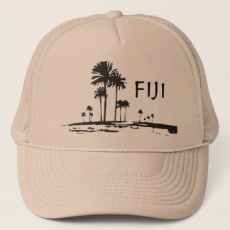 Fiji - Graphic Palm Trees Trucker Hat