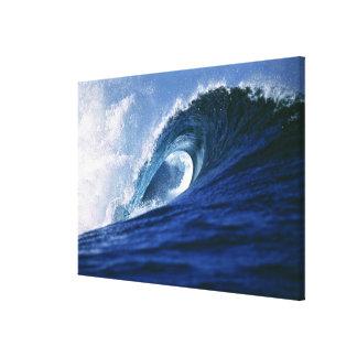 Fiji Islands Tavarua Cloudbreak A wave Stretched Canvas Print